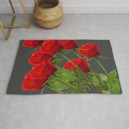 BOUQUET OF  RED LONG STEM ROSES  DESIGN Rug