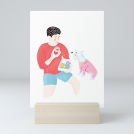 Dog wants Donuts Mini Art Print