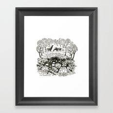 Forest Pond Framed Art Print