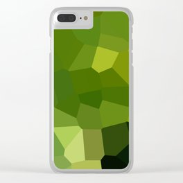 Green and pointy grow the pixel leaves Clear iPhone Case