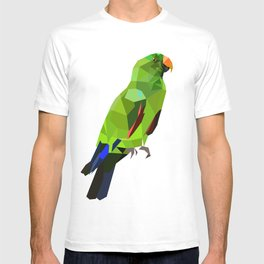 Eclectus parrot Geometric bird art T-shirt