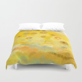Abstract autumn with gold and warm light Duvet Cover