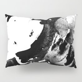 Drilling for that black gold in our oceans, black wave Pillow Sham