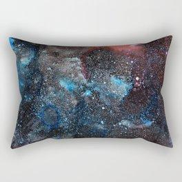 Abstract Cosmos Watercolor Art Rectangular Pillow