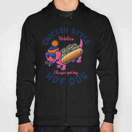 Da Chicago Dog With Text Hoody