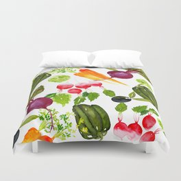 Mixed Vegetables Duvet Cover