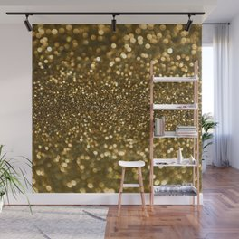 Gold Sparkle Pattern Wall Mural