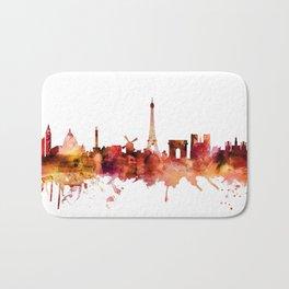Paris France Skyline Bath Mat