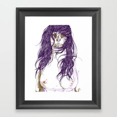 Give us a kiss (bw) Framed Art Print