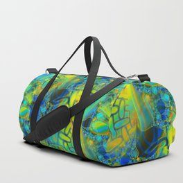 Abstract Layering Duffle Bag