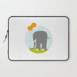 An Elephant With a Peanut Balloon Laptop Sleeve