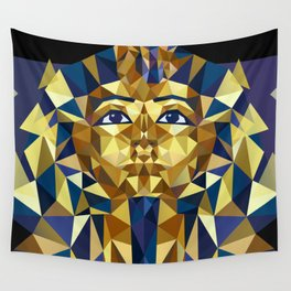 Golden Tutankhamun - Pharaoh's Mask Wall Tapestry