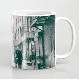 New York City - Snowy Afternoon - Chinatown Coffee Mug