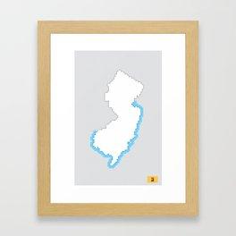 New Jersey Pixels Framed Art Print