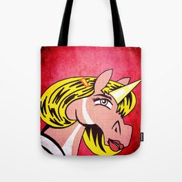 Unicorn Girl With Barrette Tote Bag