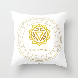 Be Empowered Throw Pillow
