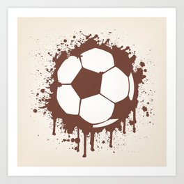 Soccer Ball Art Print