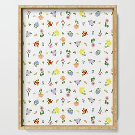 Flourishing Floral Serving Tray