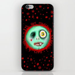 IT'S NOT POLITE TO STARE iPhone Skin