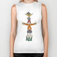 fandom Biker Tanks featuring The Fandom Totem Pole by Tricksterbelle Productions