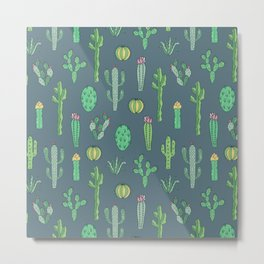 Cactus Pattern II Metal Print