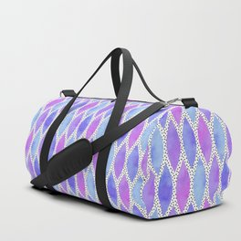 Periwinkle Watercolour Scales Duffle Bag
