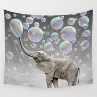 kevin russ Wall Tapestries featuring The Simple Things Are the Most Extraordinary (Elephant-Size Dreams) by soaring anchor designs