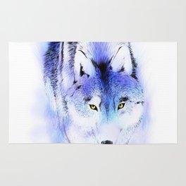 Stalking Wolf Rug