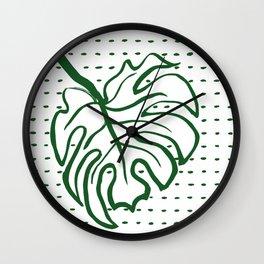 Monstera Leaf Wall Clock