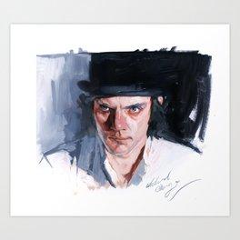 Malcolm McDowell Art Print