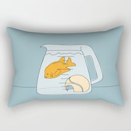 Coffee Pot Goldfish Rectangular Pillow