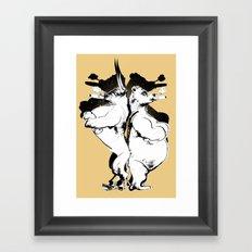 The Bull & Bear Framed Art Print