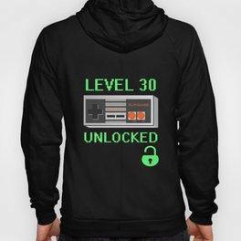 Gamer 30th Birthday Gift - Level 30 Unlocked  Hoody