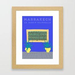 Le Jardin Majorelle, Marrakech (Marrakesh), Morocco Travel Poster Framed Art Print