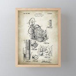 Camera Patent Poster Drawing Framed Mini Art Print