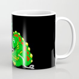 Dinosaur flying a kite and not happy about it! Coffee Mug