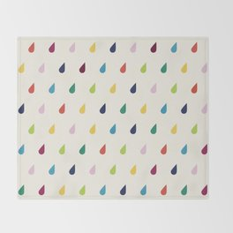 Raindrops Throw Blanket