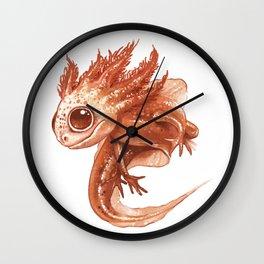 Pink Axolotl Wall Clock