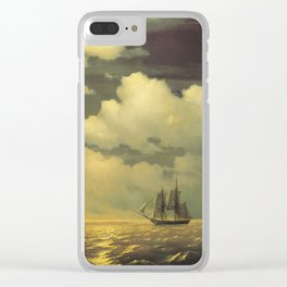 Aivasovsky Ivan - Merkuri 1848 Clear iPhone Case