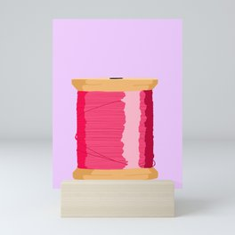 Pink Spool Of Thread Mini Art Print