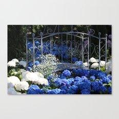 Blue Hydrangea Stream Canvas Print