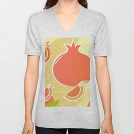 Design wild Pomegranate on gold Unisex V-Neck