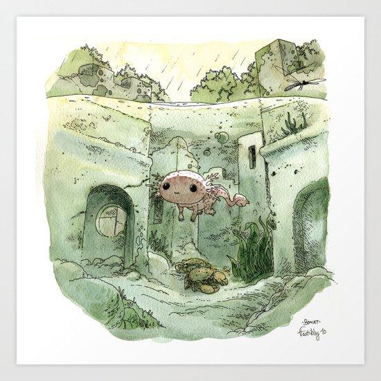 Axolotl Art Print