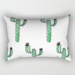 Cactus Flower II Pattern Rectangular Pillow