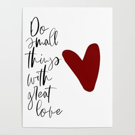 Do Small Things With Great Love, Nursery Wall Art, Printable Art, Typography Art Poster
