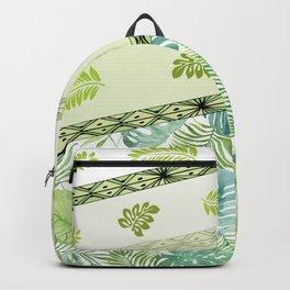 Hawaiian Monstera and Ferns Backpack