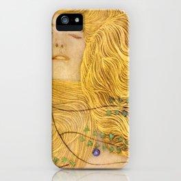 Gustav Klimt - Water Serpents, 1 (detail) iPhone Case