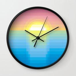 Sunset ~ strips Wall Clock