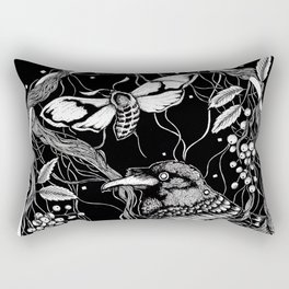 edgar allan poe - raven's nightmare Rectangular Pillow