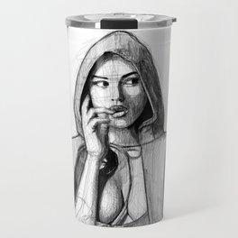 Monica Bellucci - Little Red Riding Hood Travel Mug